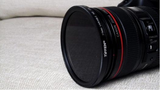 Tiffen 77mm filter fitted to 24-205mm EF lens
