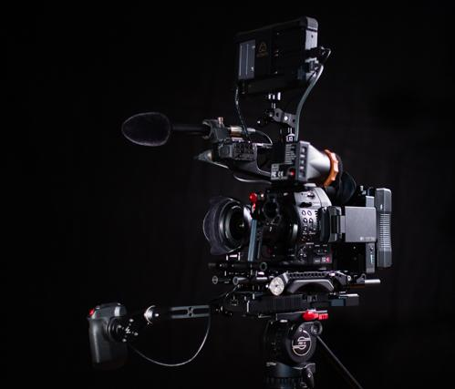 All parts to Build a Shoulder Rig for the Canon C100 Mark II