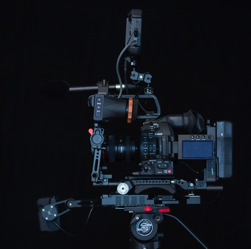 All parts to Build a Shoulder Rig for the Canon C100 Mark II profile
