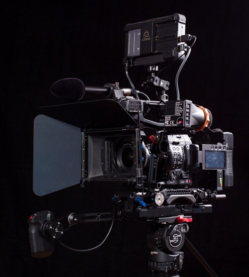 All parts to Build a Shoulder Rig for the Canon C100 Mark II with matte box