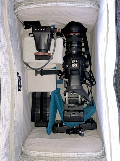 Build a Shoulder Rig for the Canon C100 Mark II: Tenba bag with C100ii